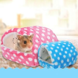 Details About Soft Pet Warm Guinea Pig Bed House Small Animal Hamster Rat Hammock Nest Pad Uk