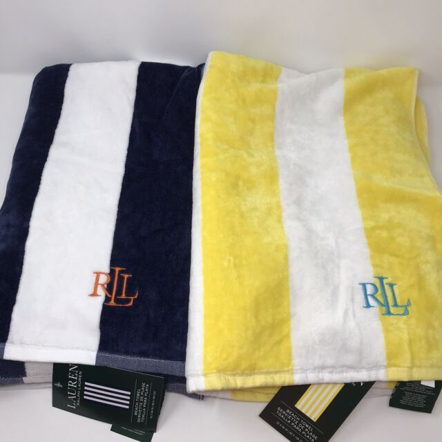 NWT Tommy Hilfiger Rock Lobster  Beach Pool Logo Towel  35 x 66 100/% Cotton NEW