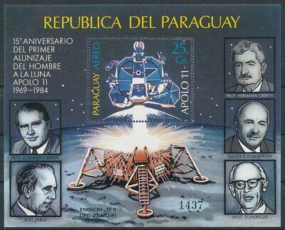 Aktiv 663047 Raumfahrt Paraguay Block 406** Raumfahrt Michel€ 45,00€