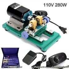 280W 110V Pearl Drilling Holing Machine Stepless Jewelry Driller Punch Tool Set