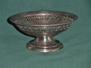 Vintage-E-amp-JB-Empire-Art-Silver-Decorative-Candy-Dish-1890-039-s-to-1930-039-s