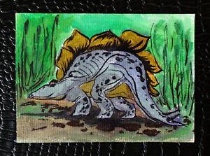 Original-art-by-Bastet-034-Dinosaur-034-OOAK-hand-painted-ACEO
