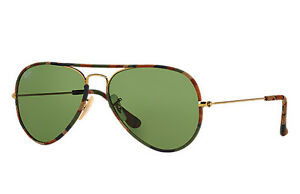 aa7d7597e8 RAY BAN RB3025JM 168 4E 58-14 Multi Color Gold Camo Aviator ...