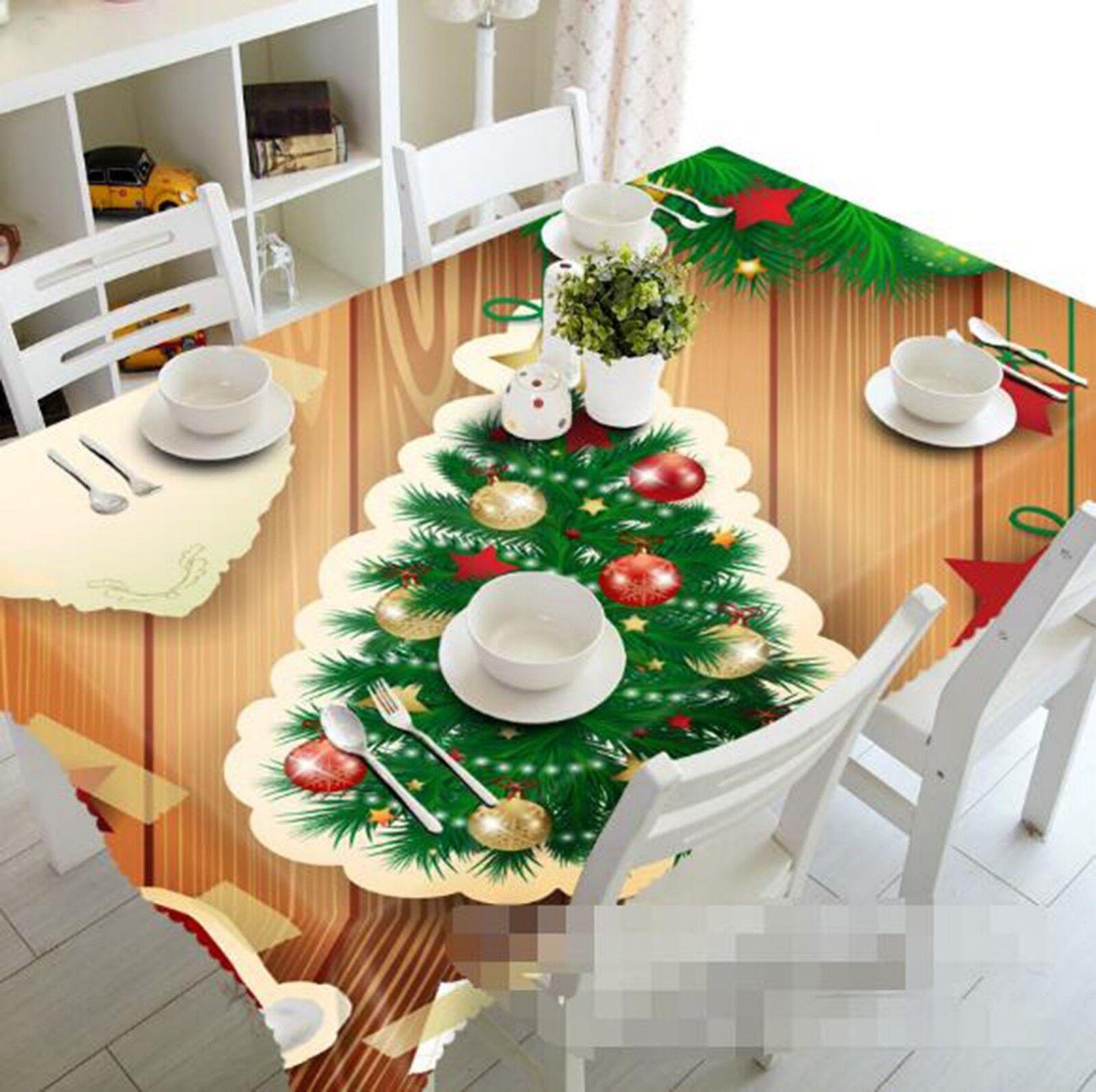 3D Pine Adorn 02 Tablecloth Table Cover Cloth Birthday Party Event AJ Lemon