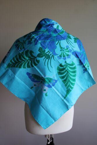 Jim Thompson Raw Thai Silk Blue Butterfly Floral 3