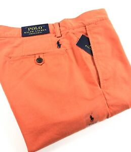 Polo-Ralph-Lauren-Chinos-Men-039-s-Stretch-Slim-Fit-College-Orange-Bedford-Pants