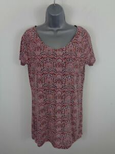 WOMENS-FAT-FACE-RED-MULTI-PATTERN-SHORT-SLEEVED-CASUAL-BOAT-NECK-SHIRT-TOP-UK-6