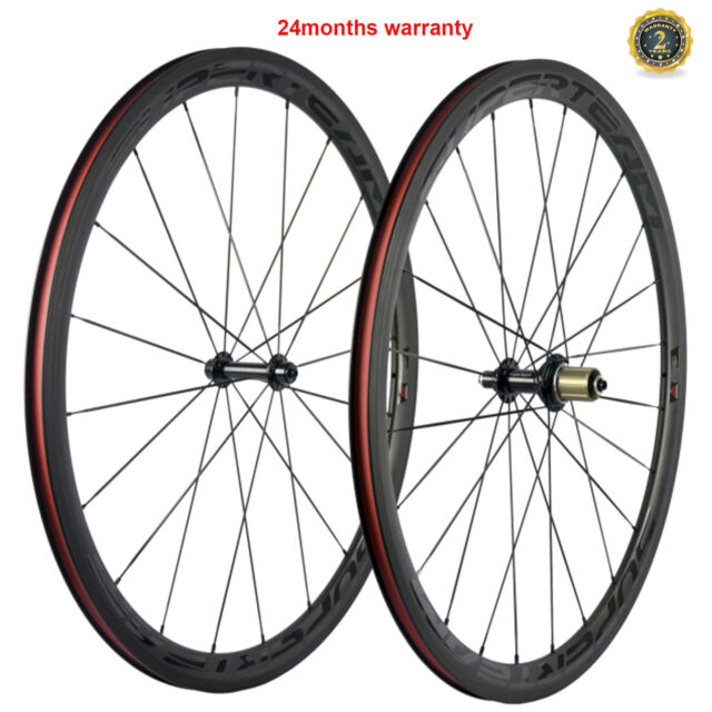 38mm Clincher Carbon Wheels Road Bike Cycle Wheelset 700C Carbon Racing  Cycle
