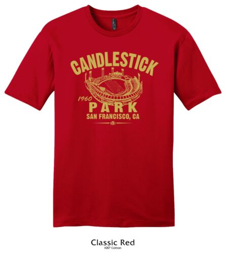 Candlestick Park 1960 Football Tee Shirt Past Home of the San Francisco 49ers