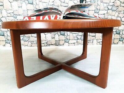 60er TEAK NIELS BACH TISCH COUCHTISCH MID CENTURY DANISH 60s ROUND TABLE | eBay