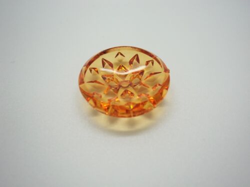 B1418-15mm 5pcs CLEAR TRANSPARENT CRYSTAL FANCY DESIGN FACETED ITALIAN BUTTON