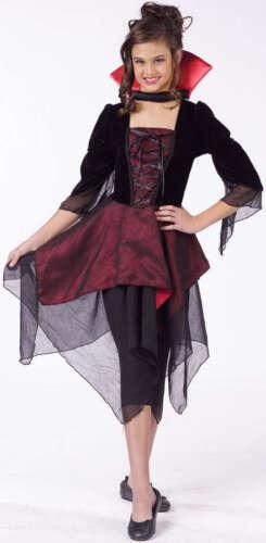 Girls Child Sassy Lady Dracula Vampire Evil Scary Dress Costume