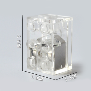 Lunar LED LIGHT BLOCK compatible with lego 2x3 RED /& BLUE Free axle piece***