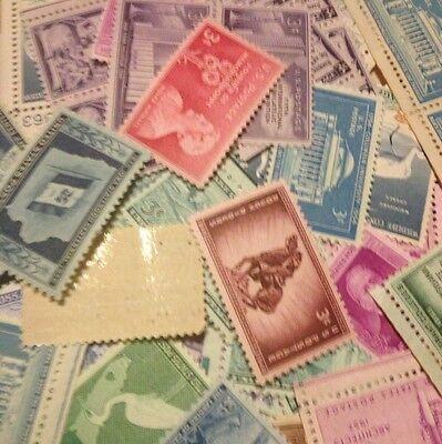 100 Unused Vintage 3 Cent Stamps