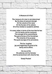 Image Is Loading Grady Poulard A Measure Of Man Wedding Poem
