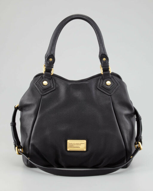 Nwt Marc By Jacobs Original Classic Q Fran Leather Bag Tote Black 448 Auth
