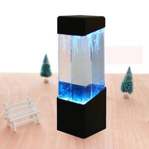 Jellyfish-Aquarium-Multi-Colored-Lighting-Fish-Tank-Mood-Lamp-LED-Night-Light-US