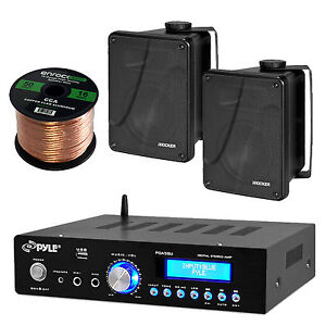 bluetooth pyle home stereo receiver kicker 6 5 box. Black Bedroom Furniture Sets. Home Design Ideas