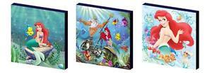 Disney-princesse-ariel-petite-sirene-toile-art-blocs-wall-art-plaques-photos