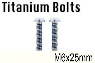 US Seller x2 Titanium Ti Bolt M6x25mm Tapered ALLEN HEX M6 25L Bicycle Screw
