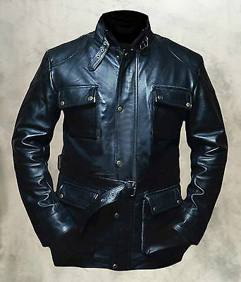 Will Smith I Am Legend Men's Genuine Leather Coat/Jacket (With Free Wallet)