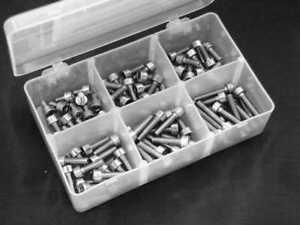 Schraubenbox  Zylinderschrau<wbr/>ben M4 aus Edelstahl