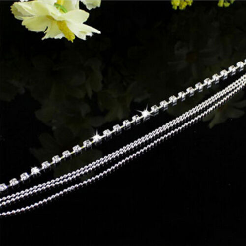 Jewelry Foot Silver Bead Chain Anklet Ankle Bracelet Barefoot Sandal Beach bw