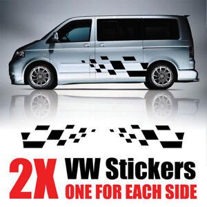 VW-Transporter-graficos-Rayas-Camper-Camioneta-Calcomanias-Pegatinas-T4-T5-rv37-Caddy
