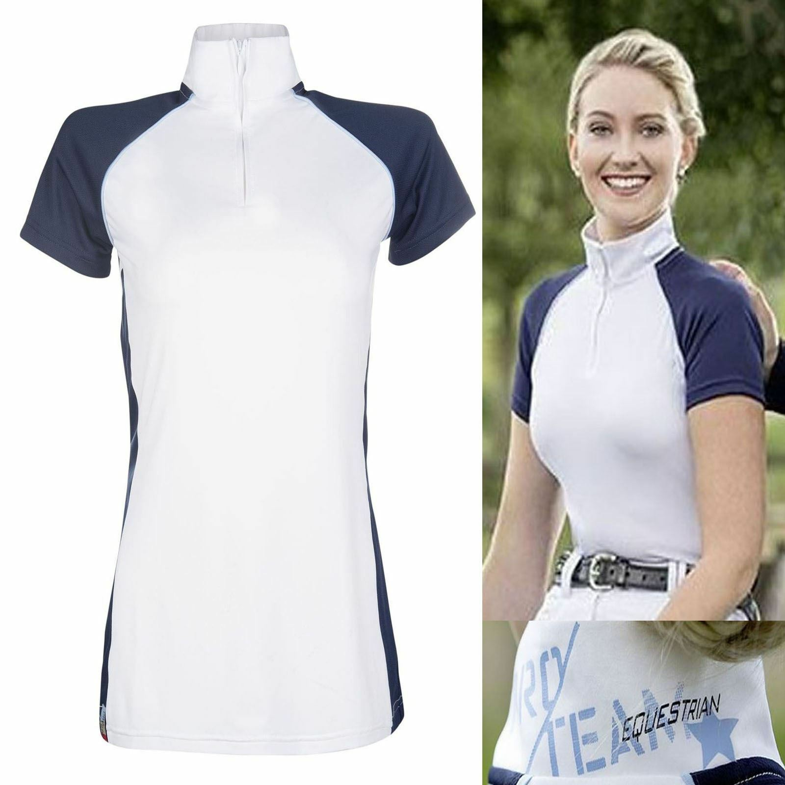 HKM Pro Team County Competition Shirt - Horse Riding Resistant Stretch Tailored