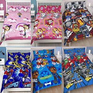 Official-Licensed-Character-Double-Duvet-Cover-Bed-Set-KIDS-BOYS-GIRLS-Gift