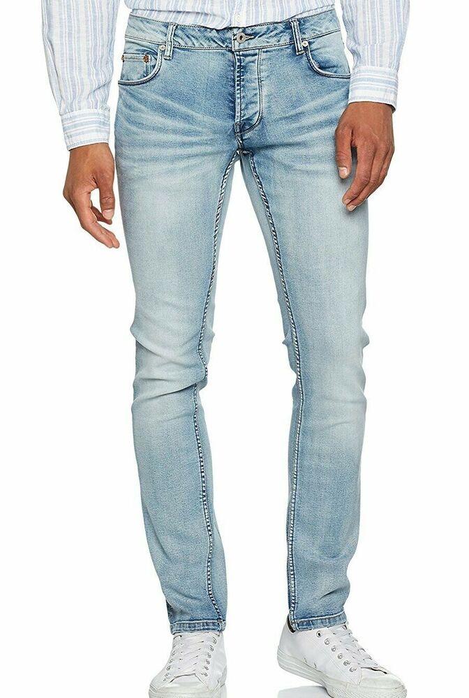 ! Solid Messieurs Jeans-joy Slim Fit Neuf Avec Etiquette/gr, 34-32 Bleu