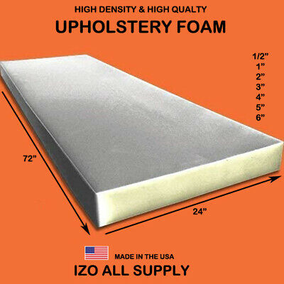 Upholstery Cushion Made in USA Firm GoTo Foam 1 Height x 24 Width x 84 Length 44ILD