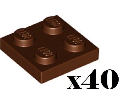 /_Reddish Brown 4216695/_LEGO Plate 2x2 3022 Lot of 25