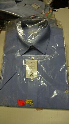 Arbeits-oder Freizeithemd Gentleys Businesshemd Hellblau 1/2 Arm Gr. M / 40 Neu GüNstige VerkäUfe