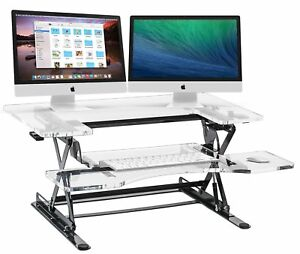 Halter-Acrylic-Preassembled-Height-Adjustable-Sit-Stand-Elevating-Desktop