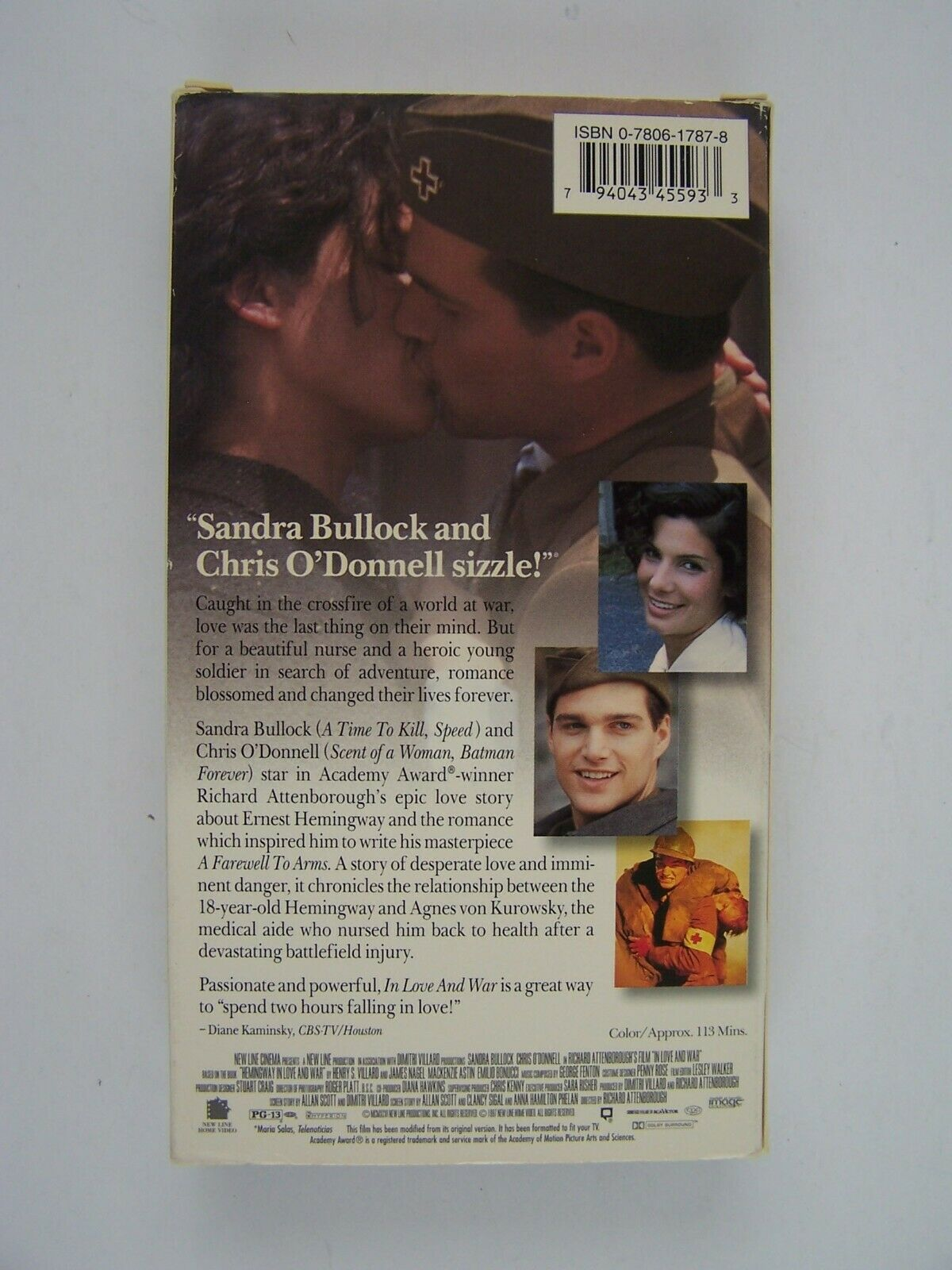 In Love and War VHS Chris O'Donnell, Mackenzie Astin, S