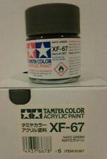 Tamiya acrylic paint XF-67 NATO Green 23ml
