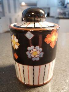 1920s-ART-DECO-Floral-SMOKING-NORITAKE-CIGARETTE-HUMIDOR-TOBACCO-JAR