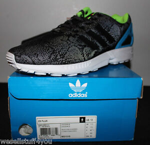 2a3821660 Adidas ZX Flux 3M Reflective Snake Black Torsion ED Sneakers Men s ...