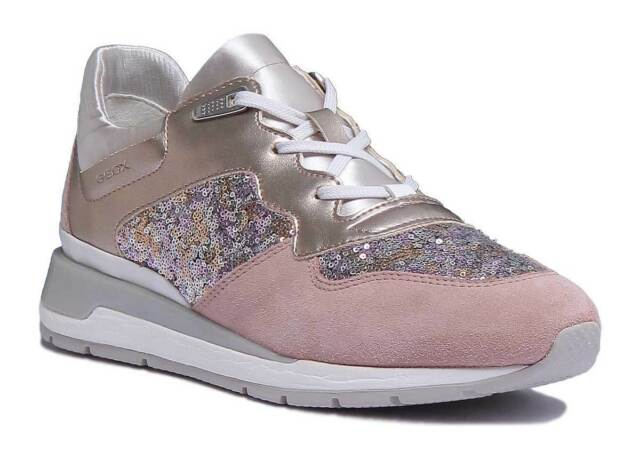 Geox D Shahira Womens Athlletic Trainers In Rose Gold Size UK 3 - 8 for sale