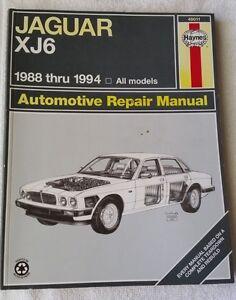 jaguar xj6 1988 thru 1994 automotive repair manual by haynes 49011 rh ebay com 1990 Jaguar XJ6 1996 Jaguar XJ6