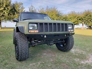 Jeep Cherokee Xj >> Front Steel Custom Bumper Jeep Cherokee Xj Mj Trekker Ebay