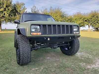 front steel custom bumper jeep cherokee xj mj trekker ebay front steel custom bumper jeep cherokee xj mj trekker ebay