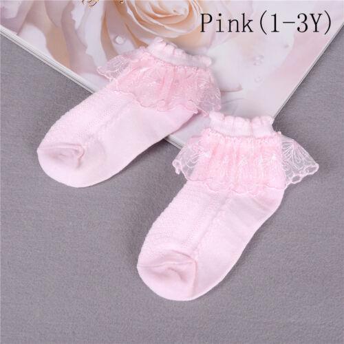Summer Baby Girls Kids Toddler Socks Cotton Lace Princess Ankle Mesh Socks vv