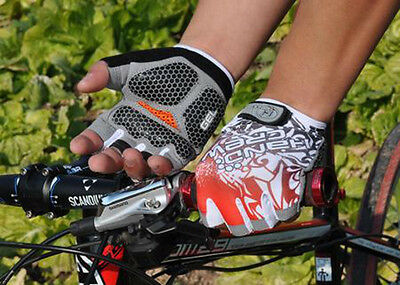 New Cycling Bike Bicycle GEL Shockproof Sports Half Finger Glove Fashion M-XL