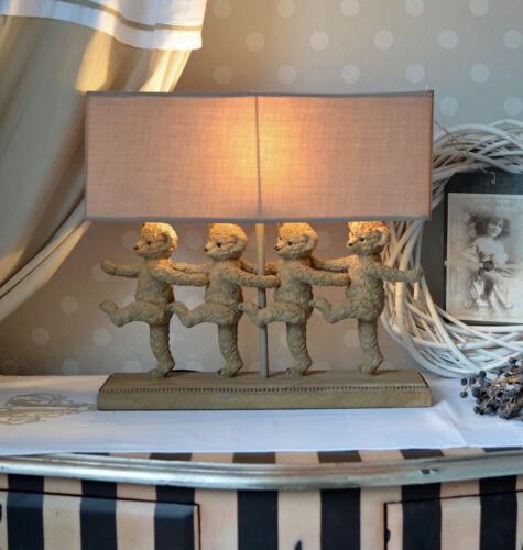 Tischlampe Teddybären Leuchte im Landhausstil Lampe shabby Kinderzimmerlampe neu