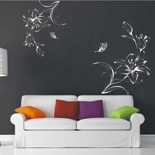 Wall Stickers Butterfly Flower Tree Family Wall Art Wall Decals Nursery Kids-P78