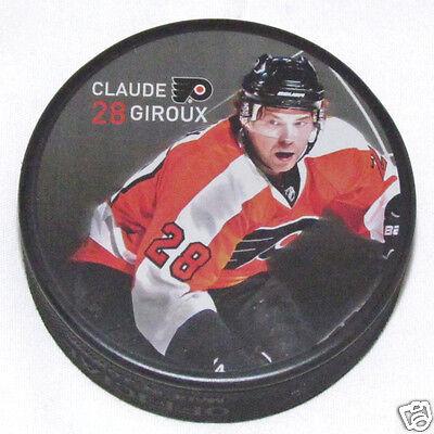 CLAUDE GIROUX Philadelphia Flyers PLAYER PHOTO PUCK 2013 NEW #28 In Glas Co.