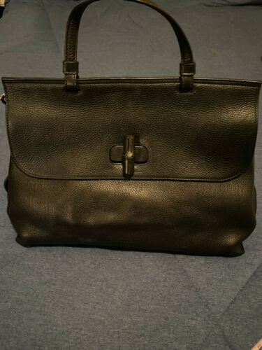 Gucci Bamboo Daily Top Handle Bag Leather Large