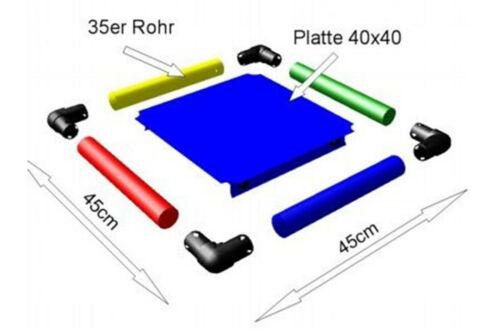 Moveandstic 2er Set 40x40 Platte grün Spielgerüst Kletterturm Spielturm Platten